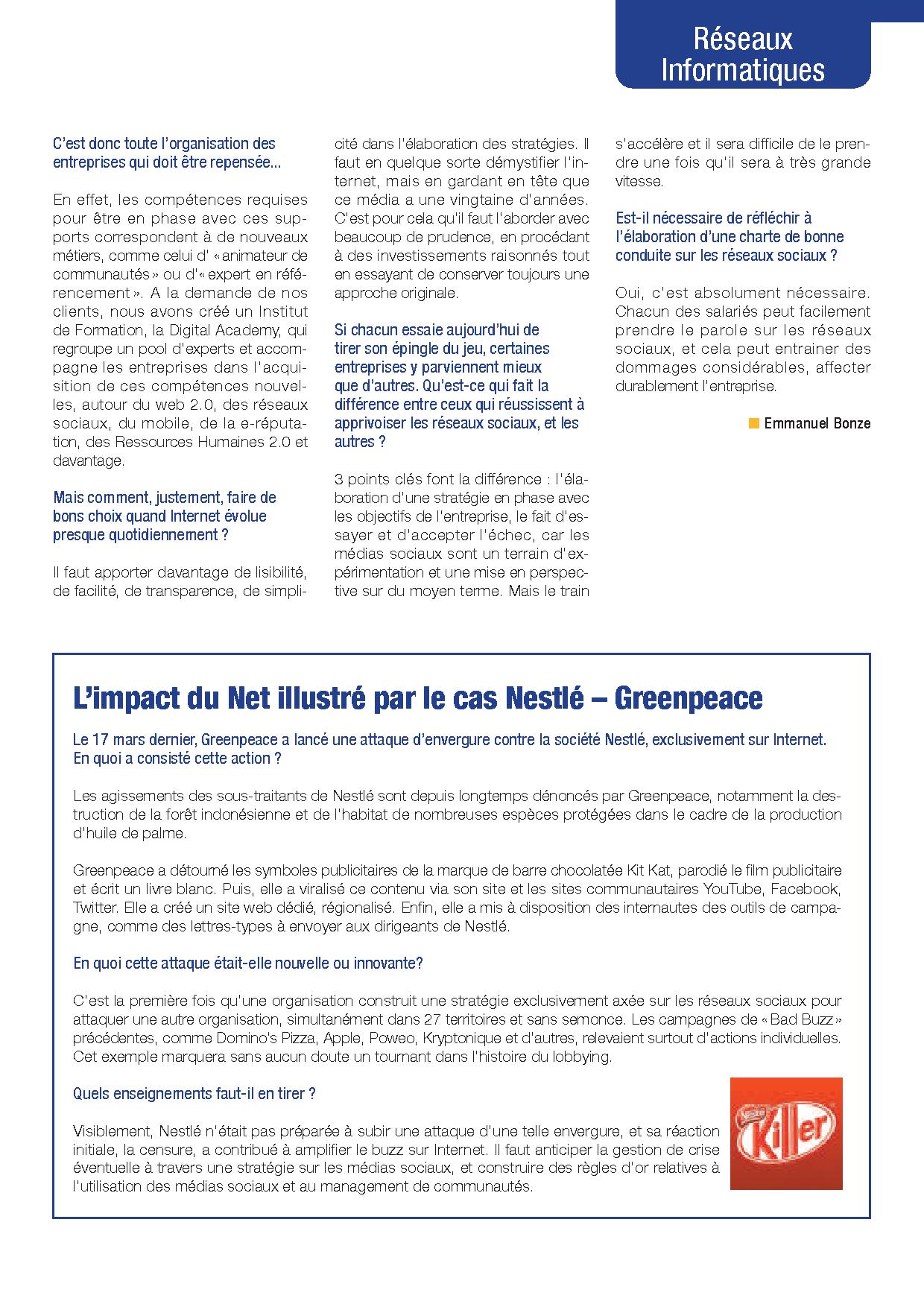 L'impact du Net illustré par le cas Nestlé - GreenPeace