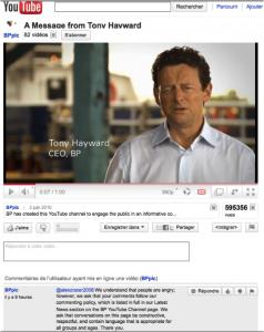 Prise de parole du CEO sur YouTube