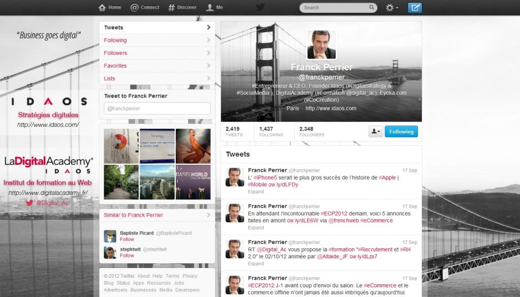 Refonte Design Page Twitter Franck Perrier