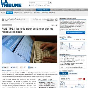 Interview La Tribune - Se lancer sur les Réseaux Sociaux