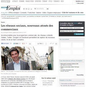 L'Express : Les réseaux sociaux, nouveaux atouts des commerciaux