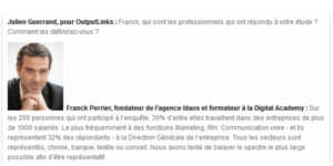 Interview Franck Perrier