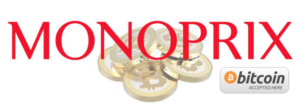 Monoprix et Bitcoin