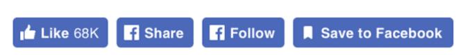 Boutons Facebook, nouveau design