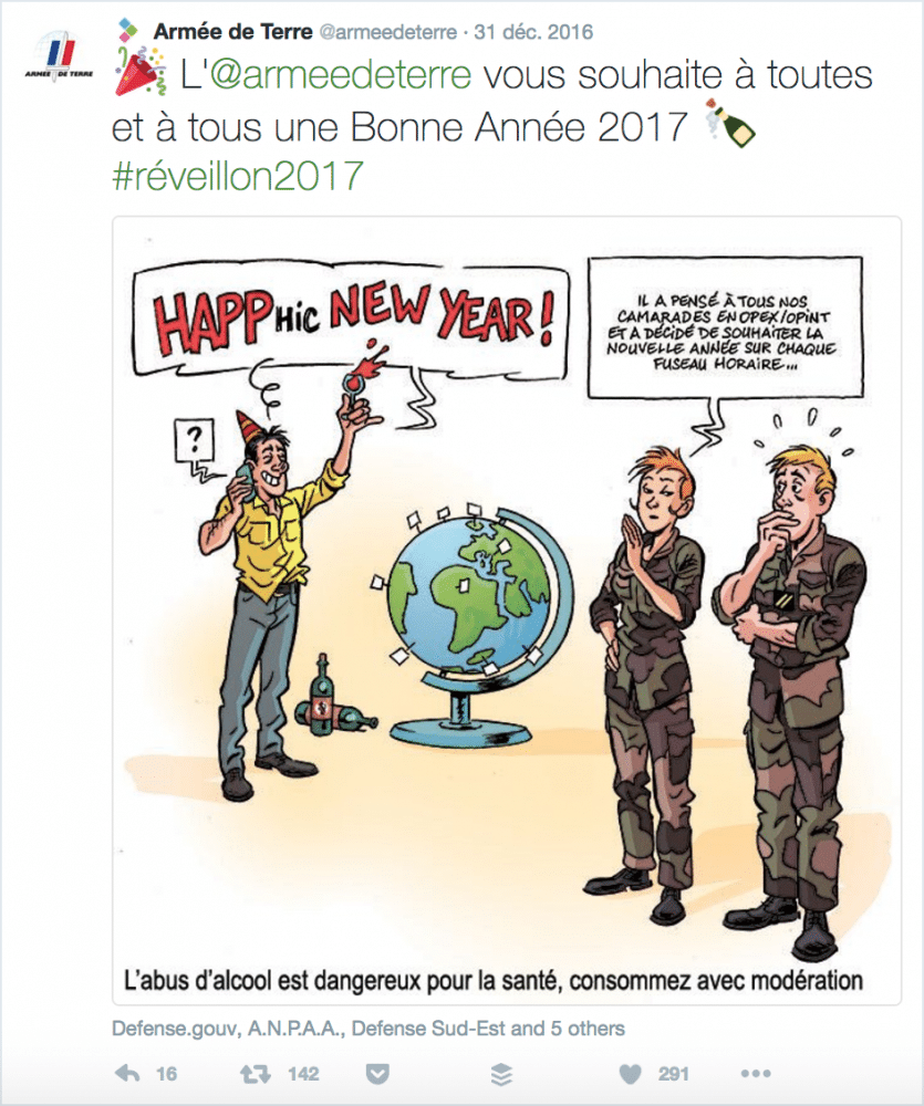 Voeux Twitter Armée de terre