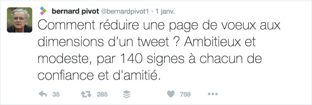 Voeux Twitter Bernard Pivot