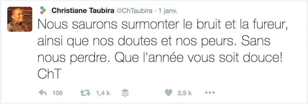 Voeux Twitter Christiane Taubira