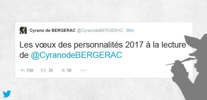 Voeux Twitter par Cyrano de Bergerac