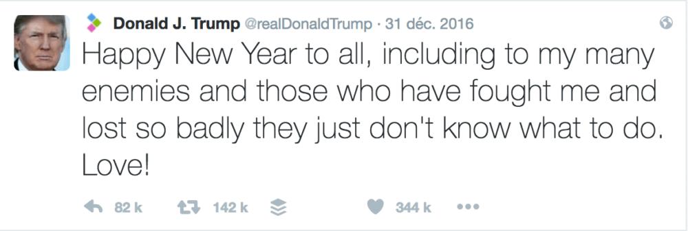 Voeux Twitter Donald Trump