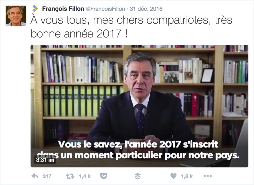 Voeux Twitter François Fillon