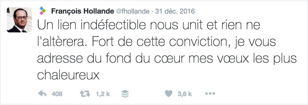 Voeux Twitter François Hollande