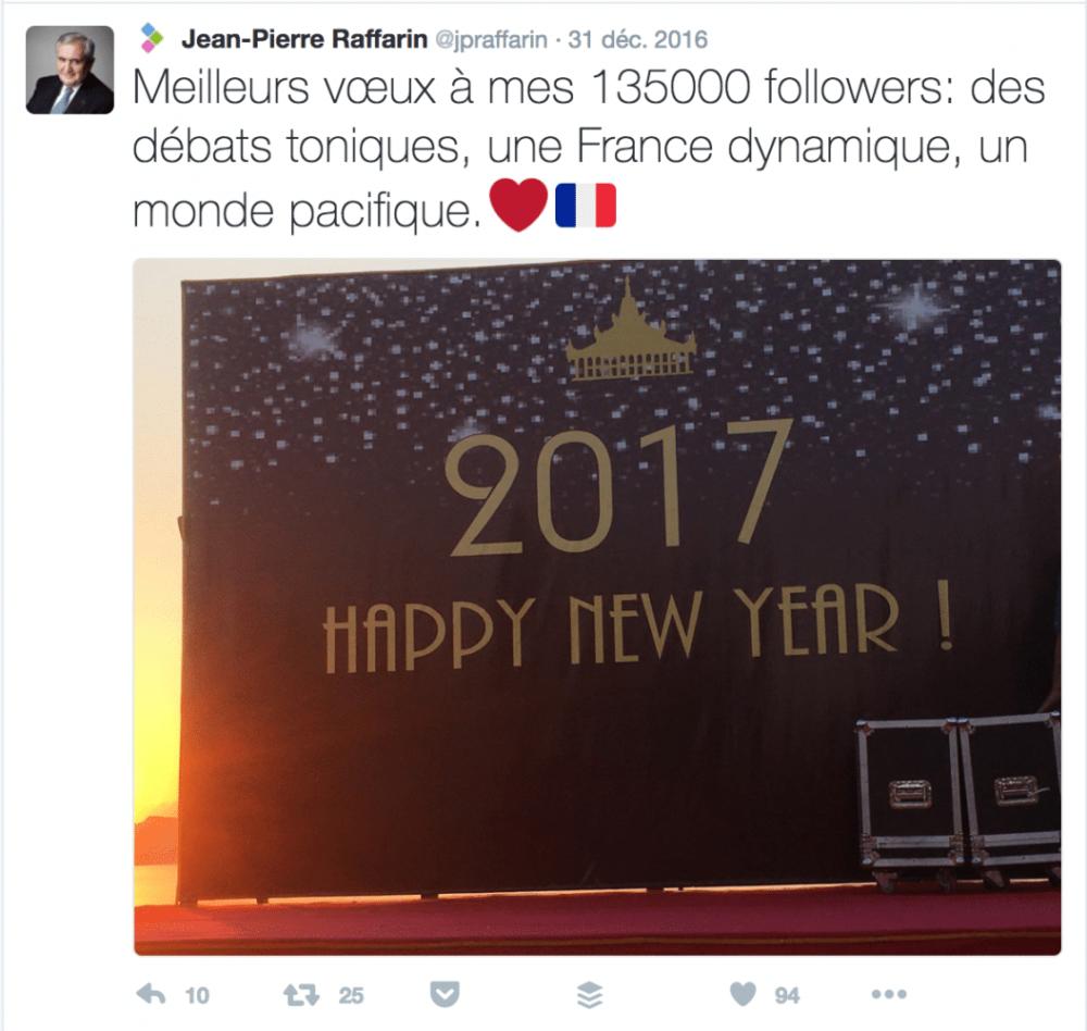 Voeux Twitter Jean-Pierre Raffarin