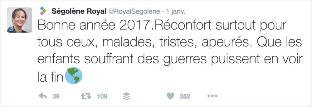 Voeux Twitter Ségolène Royal
