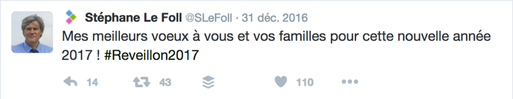 Voeux Twitter Stéphane Le Foll