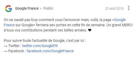 Post Google +